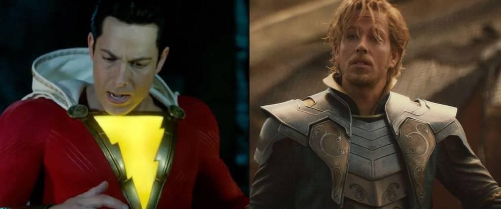 Zachary Levi in Shazam and Thor: The Dark World