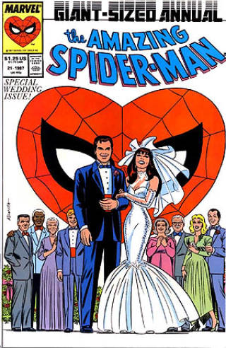 The Amazing Spider-Man issue with Mary Jane and Spider-Man's wedding