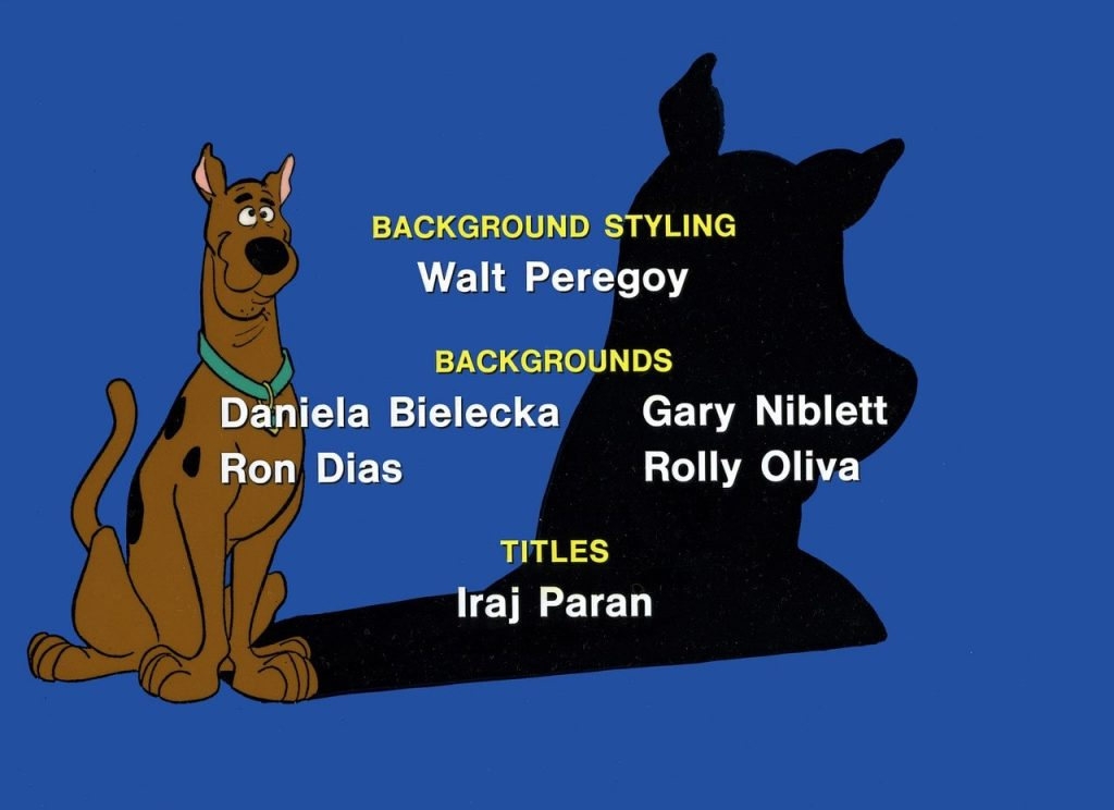 Credits from Scooby-Doo animated series