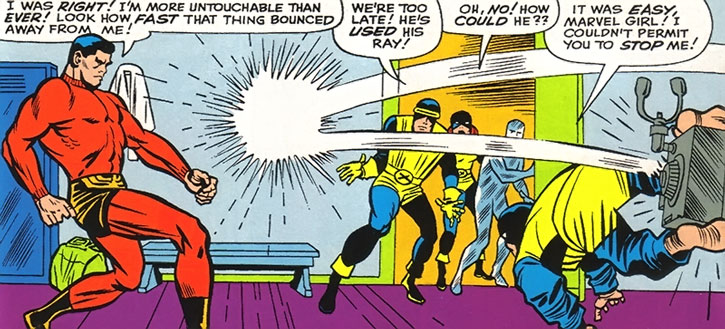 Unus the Untouchable in the pages of Marvel Comics