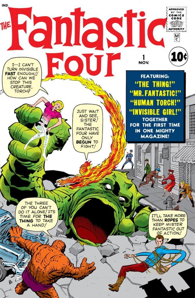 Comicbook cover of Marvel Comics Fantastic Four #1
